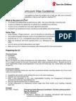 Curriculum Vitae Guidelines