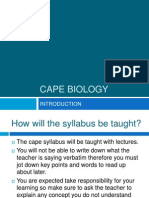 CAPE BIOLOGY - Introduction