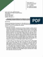 ConocoPhillips Shareholder Proposal -- 2012