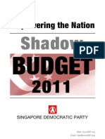 SDP Shadow Budget 2011