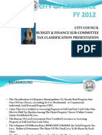 2012 City of Lawrence Tax Classification