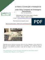 Projeto de Construção de Aquecedor Solar Economico