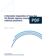 Thematic Inspection Report of How the Agency Manages Foreign National Prisoners