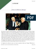 La Polemia Entre Habermas y Rat Zinger, Condor