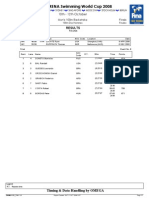 FINA / ARENA Swimming World Cup 2008, Belo Horizonte, Brazil Men's 100 M Back Final