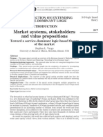 Market Systems, Stakeholders and Value Propositions - Toward a Service-dominant Logic-based Theory of the Market
