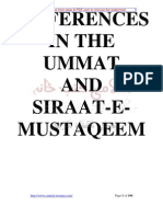 Differences In Ummat Siraat E Mustaqeem By Sheikh Muhammad Yusuf Ludhyanvi r.a
