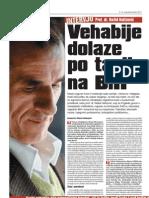 Vehabije dolaze po tapiju na BiH - intervju dr. Rešid Hafizović (Oslobođenje, 05. 11. 2011. god.)
