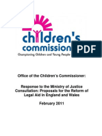 Response to the Ministry of Justice Consultation - Proposals for the Reform of Legal Aid in England and Wales