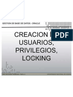Sem 9 Creacion de Usuarios Privilegios Locking- Unu