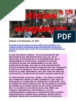Noticias uruguayas sábado 3 de diciembre de 2011