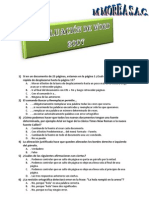 Evaluacion de Word 2007