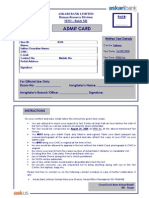 Admit Card - Central