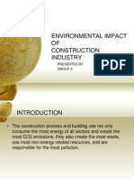 Environmenatl Effect of Construction Industry