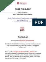 Food Rheology