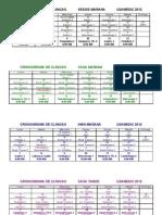 Cronograma de Clinicas Usamedic 2012