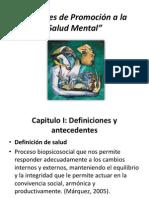 Avances de Promoción a la  Salud Mental DIAP