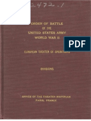 Order Of Battle Of The United States Army World War Ii Divisions 1945 Military Rank Battalion