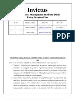 Aeon Flux_Invictus_International Management Institute,Delhi