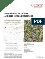 Psychiatry Mnemonics