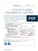 How to Save doc as pdf
