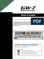 Manual Roland GW7