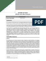 Sectorial Bolivia Microfinanzas 201109