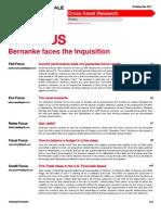 Bernanke Faces Inquisition