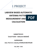 Labview Based Automatic Antenna Pattern Measurement and Gain Caluclation