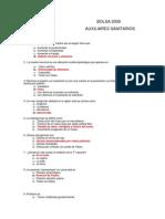 b09_auxiliarsanitario_examensoluciones Examen Diputacion Avila Aux Enf 2009