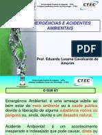 EMERGÊNCIAS E ACIDENTES AMBIENTAIS