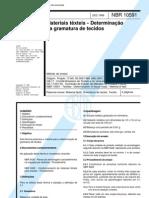 NBR 10591 - Materiais Texteis - Determinacao Da Gramatura de Tecidos