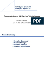 Re Manufacturing Fit-For-Use Parts Supply