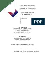 Programa de Educacion Especial