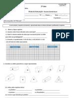 Ficha de avaliação pca - sólidos geométricos- figuras no plano (introd)