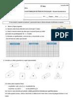 Ficha de avaliação Sólidos geométricos e Fig no plano (introd) - proposta de correção