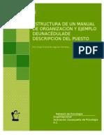 Estructura Manual Organizacion Cedula Descripcion Puestos