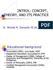 3.Cost Control Concept, Theory, And Its Practice