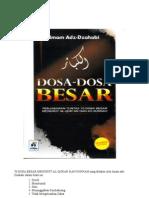 70 Dosa Besar Mnurut Qur'an Dan Hadist