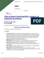 Tipos de planos cinematográficos, ejemplos con fragmentos de películas   Solosequenosenada