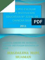 MUNICIPIO ESCOLAR DE LA INSTITUCION EDUCATIVA Nº 22246
