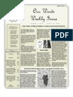 Newsletter Volume 3 Issue 49
