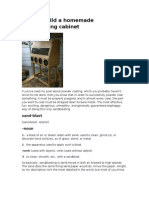 How to Build a Sandblasting Cabinet