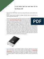 Comment partager des fichiers dans une carte Micro SD via Huawei E583c Modem Routeur Wifi