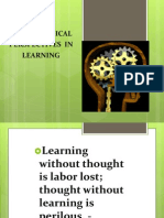 Psychological Perspectives in Learning