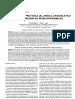 Efectos de las proteínas del músculo esquelético en la corrosión de aceros inoxidables