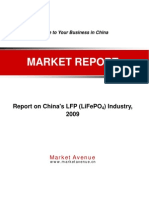 Report on China's LFP (LiFePO4) Industry,