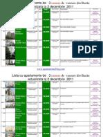 Lista Cu Apartamente de 3 Camere de Vanzare Din Bacau Actualizata La 2 Decembrie 2011(Download PDF)