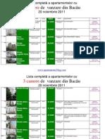 Lista Apartamentelor Imobilelor Cu 3 Camere de Vanzare Din Bacau La 24 Noiembrie 2011 (Download PDF)