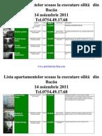 Lista Apartamentelor scoase la executare silită din Bacau la data  14 noiembrie  2011 (download pdf)